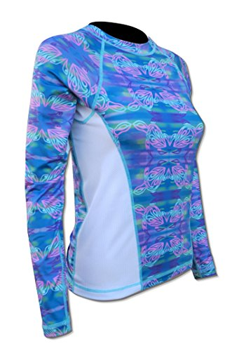 Tormenter Women's Printed Rash Guard SPF-50 Loose Fit Slimming Swim Shirt (Large, Turtle) by Tormenter