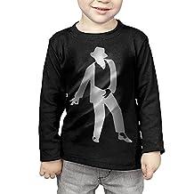 Kids Michael Jackson Platinum Style Long Sleeve T-Shirts Black