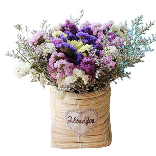 (TELLW Natural Dried Flower Bouquet Set True Flowers Forget-me-not Home Decoration Flower arrangment Floral DIY Gifts Photo)