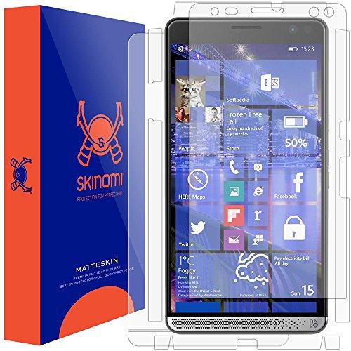 - HP Elite x3 Screen Protector + Full Body , Skinomi MatteSkin Full Skin Coverage + Screen Protector for HP Elite x3 Anti-Glare and Bubble-Free Shield