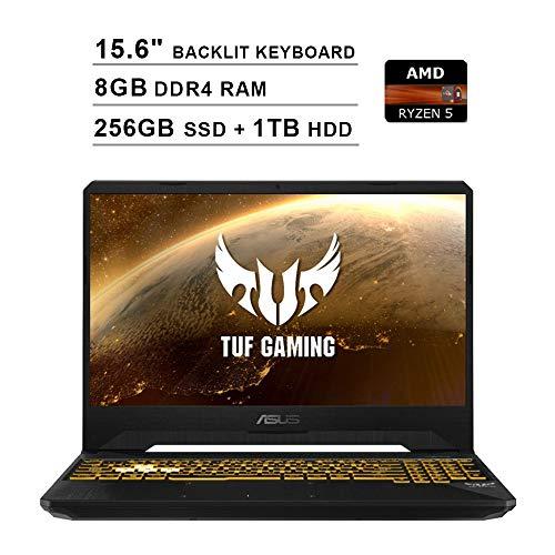 2020 Newest ASUS TUF 15.6 Inch FHD 1080p Gaming Laptop (AMD 4-Core Ryzen 5 3550H up to 3.7GHz, 8GB DDR4 RAM, 256GB SSD (Boot) + 1TB HDD, NVIDIA GeForce GTX 1050, Backlit KB, Windows 10) (Black)