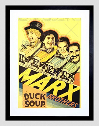 MOVIE FILM DUCK SOUP MARX BROTHERS COMEDY MUSICAL ZEPPO FRAMED PRINT B12X5481 (Poster Marx Brothers)