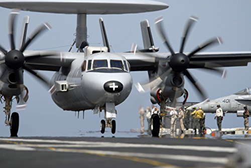 Laminated Poster A French E-2C Hawkeye from The Nuclear-Powered Aircraft Carrier French Navy Ship Charles de Gaulle Vivid Imagery Poster Print 24 x 36 - French Navy Aircraft Carrier