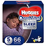 HUGGIES OVERNITES, Night Time, Baby Diapers, Size 5, 66ct