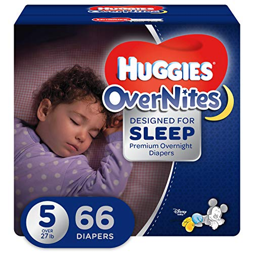 HUGGIES OverNites Diapers, Size 5, 66 ct., GIGA JR PACK Overnight Diapers (Packaging May Vary)