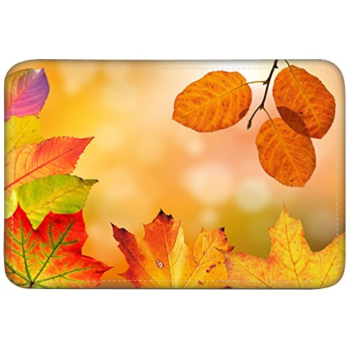 Autumn Leaves Colorful Fall Foliage Fall Color Custom Floor Mats Non-Slip Rubber Doormats Kitchen Decor Floor Mats Rugs 23.6 X 15.7 Inches by AnNew