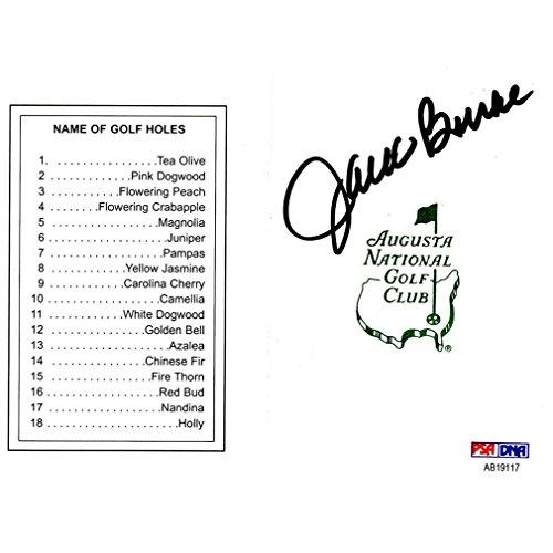 Signed Augusta Masters (Jack Burke Signed Augusta National Masters Scorecard)