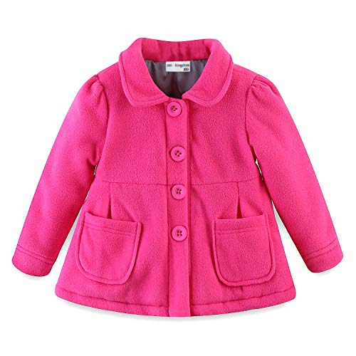 Mud Kingdom Baby Girl Fleece Jacket Coat Hot Pink 6 Months
