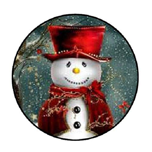 48 Christmas Snowman Red !!! ENVELOPE SEALS LABELS STICKERS 1.2