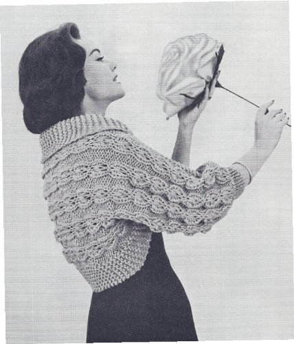 Cable Bolero - Vintage Knitting PATTERN to make - Knitted Mock Cable Shrug Bolero Sweater Quick & Easy. NOT a finished item, this is a pattern and/or instructions to make the item only.