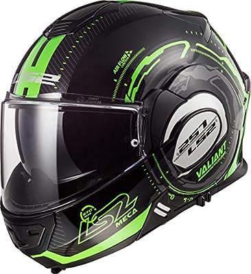 LS2 Casco de moto FF399 VALIANT NUCLEUS negro GLOW verde, negro/verde, S