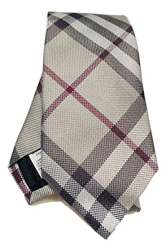 - New Authentic Burberry London Rohan Smoked Trench Check Italian Woven Silk Tie