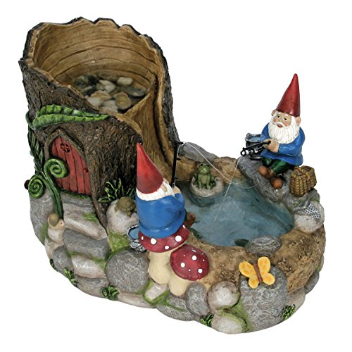 Nature's Garden Gnome Fountain, Resin by Nature's Garden