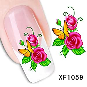 amazoncom dalin 3d nail art tips stickers false flower