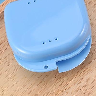 SUPVOX 5 PCS Protector bucal caja para retenedores ortodoncia férulas deporte aparatos dentales dentaduras y más (azul): Amazon.es: Salud y cuidado personal