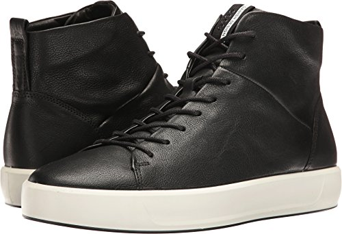 ECCO Men's Soft 8 High Top Fashion Sneaker, Black, 46 EU/12-12.5 M US