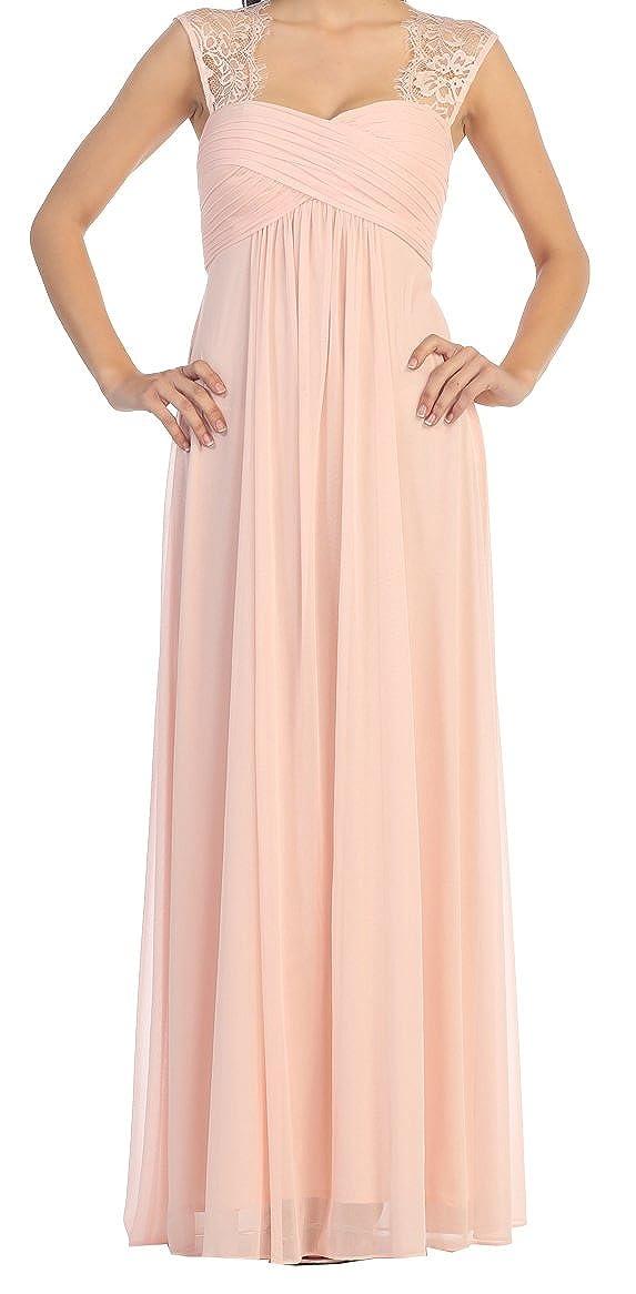 9fe3eb8cb3c Long Blush Formal Lace Cutout Chiffon Maternity Dress by  SpecialOccasionMaternity at Amazon Women s Clothing store