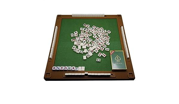Chino Mahjong Tradicionales con Mesa Plegable Junta de Viaje Juego Mini 144 Azulejo de Mahjong Juego de Mahjong Chino Conjunto portátil El tamaño y Ligero (Color : Ivory White): Amazon.es: Hogar