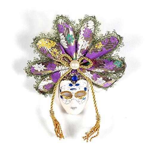 (YUFENG Full Face Mini Venetian Masquerade Mardi Gras Mini Mask Decoration for Halloween.Party Ball)
