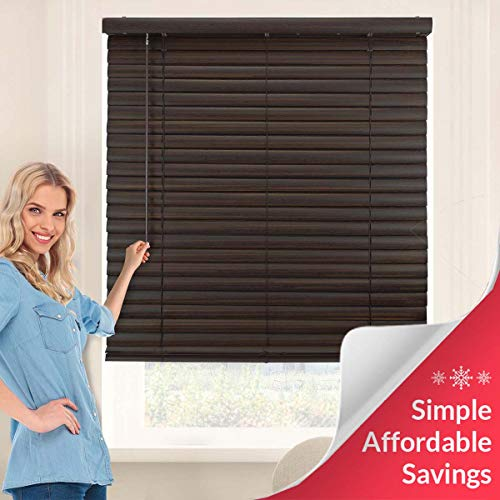Chicology Cordless 2-Inch Vinyl Mini Blinds Light Filtering, Darkening Perfect for Kitchen/Bedroom/Living Room/Office and More, 35