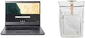 "Acer Chromebook 714 CB714-1WT-3447, 8th Gen Intel Core i3-8130U, 14"" Full HD Touchscreen with Acer Predator Rolltop Jr. Smoky White Backpack"