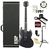 ESP EIIVIPERBCHMS E-II Viper Series VIPER BARITONE Electric Guitar, Charcoal Metallic Satin