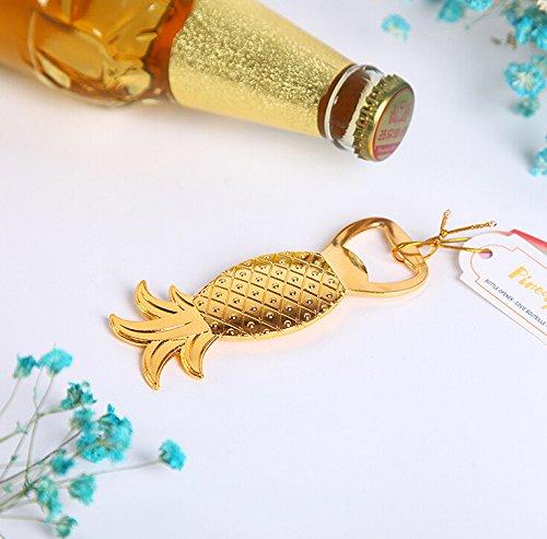 Gold Pineapple Bottle Opener For Wedding Favor & Baby Shower Favor, Set of 96 by cute rabbit