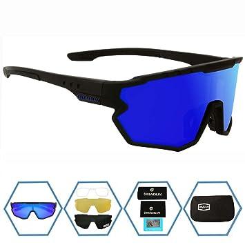 Amazon.com: GIEADUN - Gafas de sol deportivas con 4 lentes ...