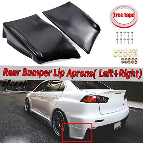 Daphot-Store - 2x Car Rear Bumper Lip Spats Aprons Diffuser Splitters Protector For Mitsubishi Lancer Evolution X EVO 10 2008-2015 - Evo Rear Lip