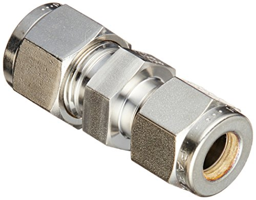 Parker A-Lok 6RU5-316 316 Stainless Steel Compression Tube Fitting, Reducing Union, 3/8
