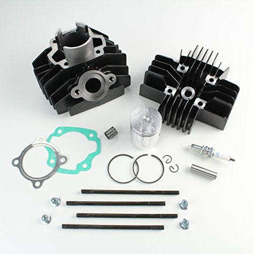 NICHE Cylinder Piston Cylinder Head Gasket Top End Kit for Yamaha PW80 1983-2006