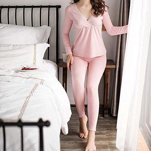 abbigliamento biancheria pantaloni donne 2xl notte da morbido Zay viola per ultra donna e pigiama lunghe gravidanza M set pigiama maternità maniche set da a allattamento maternità CfRqP5