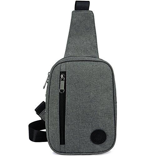ZYSUN Sling Bag,Crossbody Shoulder Bag, Casual Daypacks Travel Backpack For Women Men (Gray)