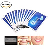 Teeth Whitening Strip, Dental Care Kits,Elastic Advanced Tooth Whitening Gel Whitestrips Bleaching System Cleaning Teeth 14 x 2pcs