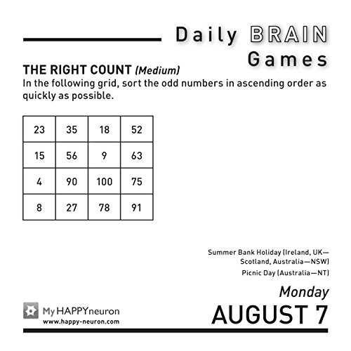 Daily Brain Games 2017 Day-to-Day Calendar - Import It All