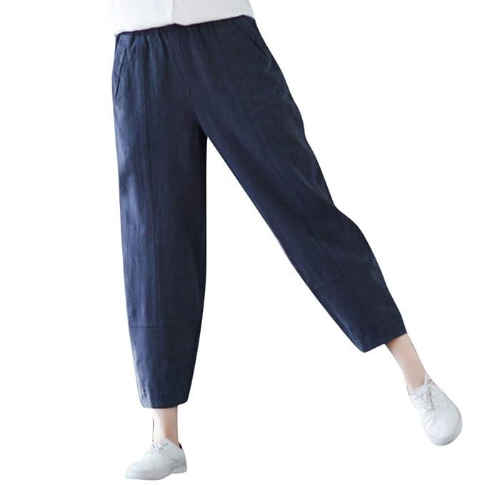 cinnamou Pantalones Mujer, Casual Pantalones Chinos Cintura ...