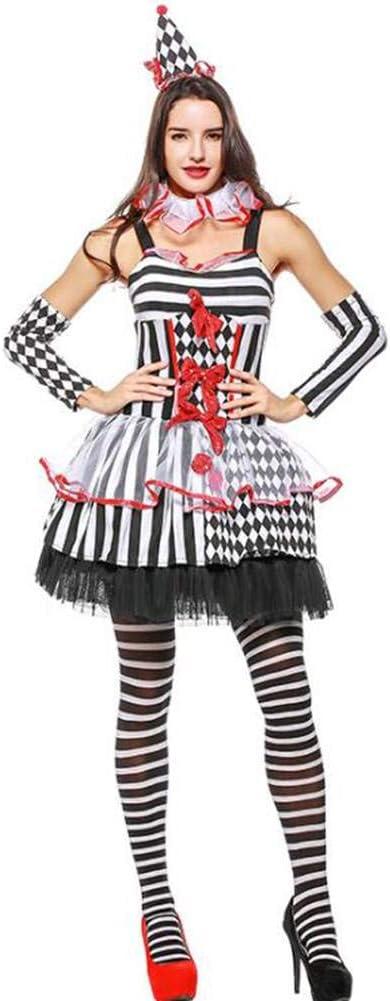 ASDF Disfraz de Halloween Cosplay Uniforme Fiesta Payaso Disfraz ...