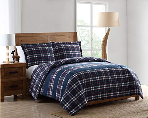 Pine Creek Lodge Reversible Comforter Set Including Shams - Premium Luxury Bed Spread, Rustic Southwestern Style Perfect for Hunters, Cabins and Lodges (Lakewood Bay, King)
