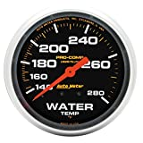 Auto Meter 5431 Pro-Comp 2-5/8'' Mechanical Water Temperature Gauge (140-280 Degree F, 66.7mm)