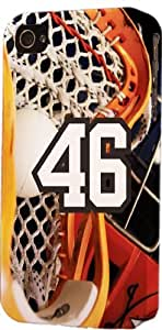 Basketball Sports Fan Player Number 46 Plastic Snap On Decorative iPhone 4/4s Case