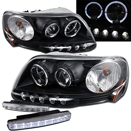 Amazon Com 1997 2003 Ford F150 Halo Projector Headlights 8 Led