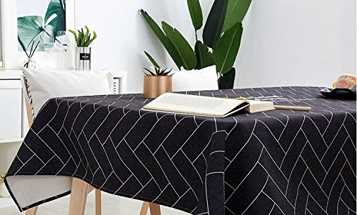PINAFORE Indoor/Outdoor Spillproof Tablecloth Aerial Landmark Fourth July Independence PentArt Great Buffet Table, Parties,Wedding & More W50 x L80 INCH