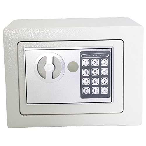 Yuanshikj Electronic Deluxe Digital Security Safe Box Keypad Lock Home Office Hotel Business Jewelry Gun Cash Use Storage (Silver, 17E)