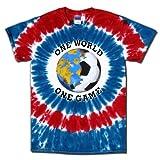 Soccer T-Shirt: USA World Cup Soccer One World Tie Dye-Adult Medium