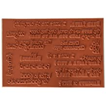 C.C. Designs Logo Sentiments Cling Stamp, 5 by 3.5-Inch, Funny Christmas Sayings