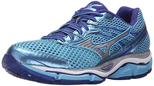 Mizuno Women's Wave Enigma 5 Running Shoe, Blue Grotto/Silver, 7 B US