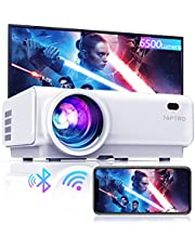 """Projector WiFi,TOPTRO 6500 Lumen Bluetooth Video Projector,Support 1080P Home Projector,200"""" Display,HiFi Speaker Compatible with TV Stick/Phone/Laptop/PS4/SD/USB/VGA/HDMI"""