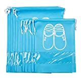 Shoe Bags Breathable Shoe Organizer Drawstring Nylon luggage Storage Travel accessories for Men & Women(blue)