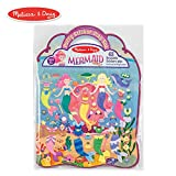 Melissa & Doug Puffy Sticker Play Set, Mermaid (Reusable Activity Book, 65 Stickers, Great for Travel)