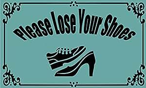 anfGreenqb por favor perder sus zapatos tela no tejida personalizado Felpudo de 60 x 40 cm (pequeño)